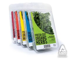 A-ROO Company clamshells and blisters are designed with presentation as well as protection in mind. Our versatile clamshell and blister packaging is ideal for fresh cut herbs and cut micro-greens.
