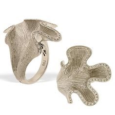 Tilden Ross - Rodney Rayner Hand-Engraved Ring w/ Diamonds