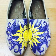 I make one of a kind, hand painted, custom made to order TOMS! You can have any shoe designed and personalized... send me your ideas or pictures