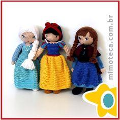"""Três Princesas! ❄️#amigurumi #crochet #presente #crochetdoll #boneca #bonecadecrochet #decoração #designercrochet #arteemcrochet #mimoteca…"""