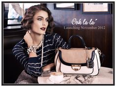 Oohlala Campaign - Shot by Tony Notaberardino, styled by Sarah Bonett, hair & make-up by Vic Baron, and starring Ellie Ross. Designer Handbags, Hair Makeup, Style Inspiration, Shoulder Bag, Baron, Website, Live, Ol, Clutches