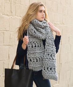Crochet Super Simple Scarf DESIGNED BY Yolanda Soto-Lopez Free Crochet Pattern  Available from Red Heart Yarns