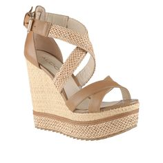 GLICHER - women's wedges sandals for sale at ALDO Shoes. - I really need these for this summer. Beige Wedge Sandals, Wedge Heel Boots, Shoe Boots, Beige Wedges, Sandals Platform, Platform Wedge, Women's Sandals, Cute Shoes, Me Too Shoes