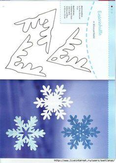 Snowflake Cutouts, Snowflake Photos, Paper Snowflakes, Snowflake Pattern, Christmas Makes, Christmas Wreaths, Christmas Crafts, Christmas Ornaments, Christmas Holidays