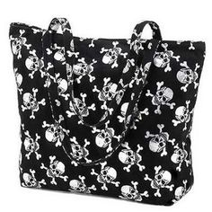 Silver Skull Motif Tote Bag Purse Gothic Fabric Totebag, (tote bag, sex toy, furniture creations, monster bag lace, monster high dolls), via http://myamzn.heroku.com/go/B005PWLNBS/Silver-Skull-Motif-Tote-Bag-Purse-Gothic-Fabric-Totebag
