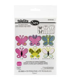 Sizzix Triplits Butterfly Dies