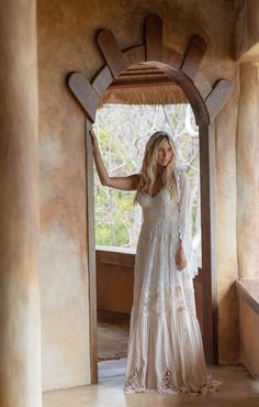 Romantic bohemian style wedding dresses by Spell Designs Bohemian Style Wedding Dresses, Wedding Gowns, Boho Style, Boho Chic, Witch Wedding, Wedding Bells, Bohemian Hairstyles, Wedding Hairstyles, Spell Designs