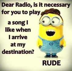 Minion radio, music, rude 。◕‿◕。 See my Despicable Me  Minions pins https://www.pinterest.com/search/my_pins/?q=minions Join the hottest Group board on Pinterest! https://www.pinterest.com/busyqueen4u/pinterest-group-u-pin-it-here/