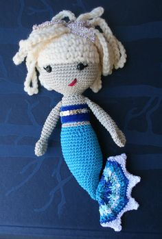 Crochet pattern, amigurumi mermaid doll (141) baby patterns, baby doll #crochetpattern #crochet