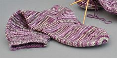 Sock Pattern with Round Toe Shaping is a comfortable basic sock knitting pattern that works wonderfully with any self patterning sock yarn.