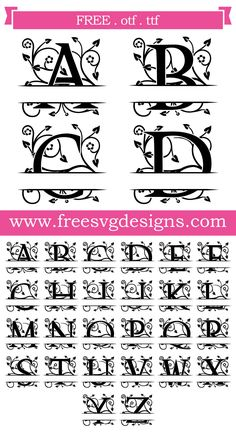 Grand Sewing Embroidery Designs At Home Ideas. Beauteous Finished Sewing Embroidery Designs At Home Ideas. Cricut Monogram, Free Monogram, Monogram Fonts, Monogram Letters, Wood Letters, How To Monogram, Monogram Stencil, Cricut Svg Files Free, Cricut Fonts