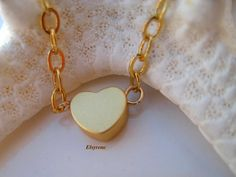 Minimalist Dainty 14k Gold gf heart Pendant-layered by elsyrene