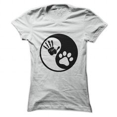 Hand Paw - Ying Yang T-Shirt Hoodie Sweatshirts uiu. Check price ==► http://graphictshirts.xyz/?p=83951