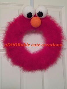 https://www.facebook.com/AdooRableCuteCreations?ref=hl Elmo wreath