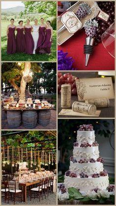 Vineyard Wedding Ideas - Grapes & Winery Design from HotRef.com #vineyardwedding