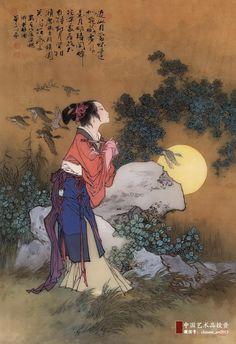 Hua Sanchuan(华三川) , 1988年作同醉月怀
