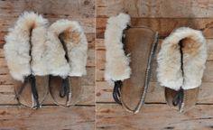 Kids Leather & Sheepskin Wool Booties Unisex Girls by ItaLaVintage