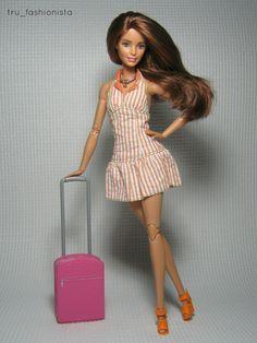 Model - Tess V. - Fashion Credits - Dress - My Scene Shoes - Playline Barbie Necklace - High School Musical Barbie Hair, Barbie Dress, Barbie Clothes, High School Musical, Barbie Theme, Barbie Style, Barbies Pics, Made To Move Barbie, Barbie Fashionista Dolls