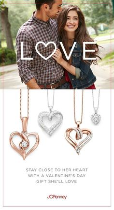 """Nothing says """"I love you"""" like fine jewelry with sparkling diamonds. Diamond heart pendants make a great Valentine's gift idea for her. This Valentine's Day, show her just how much you care with gorgeous diamond fine jewelry at affordable prices. Tap link now to find the products you deserve. We believe hugely that everyone should aspire to look their best. You'll also get up to 30% off plus FREE Shipping. Amazing!"""