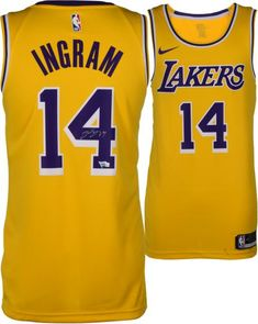 be332dce3cb Brandon Ingram Los Angeles Lakers Autographed Gold Nike Swingman Jersey