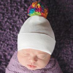 BABY GIRLS POM POM HAT HANDMADE CROCHET Shower Birth Gift Lovely Classic Style