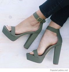 Jeans and matte olive sandals