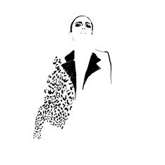 Woman In Coat, fashion illustration