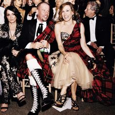 Tartan, the genius Alexander McQueen and his muse Sarah Jessica Parker at the Met Gala http://www.londonfittingrooms.com/le-boudoir/alexander-mcqueen-savage-beauty-review #ThrowbackThursday