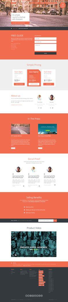 Lean Kickstart is a lean Wordpress theme, built on the Genesis Framework, designed for Startups Web Design, Website Design Layout, Website Design Inspiration, Layout Inspiration, Layout Design, Landing Page Design, Premium Wordpress Themes, Templates, Startups