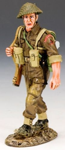World War II British Army DD169 Sling Arms - Made by King and Country Military Miniatures and Models. Factory made, hand assembled, painted and boxed in a padded decorative box. Excellent gift for the enthusiast.