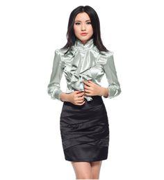 blouses for women | Wholesale Women's Long Sleeve Ruffle Blouses Shirts Women Shirt Blouse ...