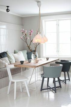 modernes esszimmer interieur vorschläge unterschiedliche stühle, Esszimmer dekoo
