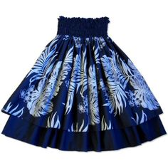 Aloha! Our traditional pa'u #hula skirts are sewn with two layers of fabric, colorful Hawaiian print on a background of solid black. Comfortable five inch elasti...