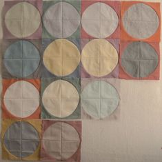 Quilting Projects, Quilting Designs, Sewing Projects, Circle Quilts, Quilt Blocks, Circle Quilt Patterns, Quilting For Beginners, Textiles, Baby Quilts