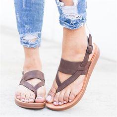 826b224277 Plus Size Ladies Buckle Strap Design Flip Flops Sandals -  JustFashionNow.com Mens Flip Flops