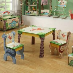 Teamson Kids Dinosaur Kingdom Childrens Chairs - Set of 2.  Note: table not included. -- Julianna