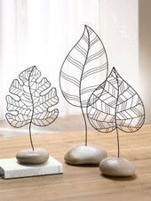 style champetre decorative leaf trend ideas table wedding original iron s . - country style decorative leaf trend ideas table wedding original iron s – Sculpture – Print - Wire Crafts, Metal Crafts, Diy And Crafts, 3d Zeichenstift, Sculptures Sur Fil, Wire Art Sculpture, Decorative Leaves, Wire Flowers, Home And Deco