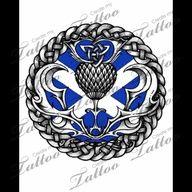 Tattoo Design 5 95 Celtic Scottish Thistle Size