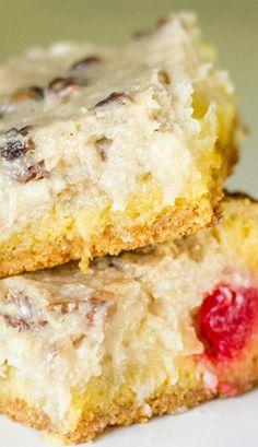 Banana Split Ooey Gooey Butter Cake