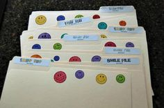 Smile Files - I made one for each teacher in my building and will explain/distribute them at our first meeting of the year....improving staff morale.  :)