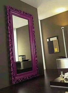 Painted mirror frame.