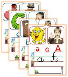 Affichage de l'alphabet-abécédaire- lignage dys-Nouvelle version modification. Feu et voiture qui donnent le sens de l'écriture- aide aux enfants en difficultés.