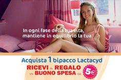 Acquista una confezione bipacco di sapone Lactacyd intimo e scopri come ricevere, a casa, un buono di 5 euro da spendere nel tuo negozio di fiducia