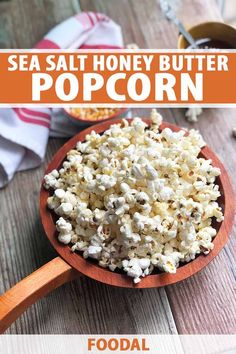 You don't need a movie to dive into this buttery bucket of popcorn. Just hit play on your stove and watch those golden kernels to do their thing. Each morsel of this sweet and savory popcorn is slathered in honey, butter, and flaky sea salt. Get the recipe now on Foodal. #popcorn #kettlecorn #foodal Easy Meals For Kids, Healthy Snacks For Kids, Kids Meals, Gluten Free Recipes For Lunch, Snack Recipes, Dinner Recipes, Appetizer Recipes, Salty Snacks, Yummy Snacks