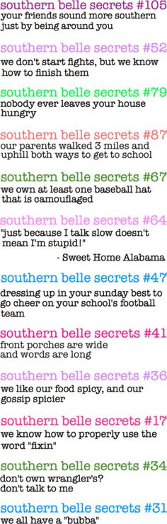 """""""Southern Belle Secrets"""" by hpserial ❤ liked on Polyvore.  OMG!!  Whoever wrote this has been following me around. Southern Belle Secrets, Southern Pride, Southern Ladies, Southern Sayings, Country Quotes, Southern Comfort, Simply Southern, Southern Charm, Southern Style"""