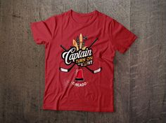 Captain Turn On the L19ht tees available now at www.NorthLegends.ca