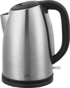 SPT Electric Kettle Water Boiler Kitchen Rapid Fast Boil 16 Cup Beige Ceramic