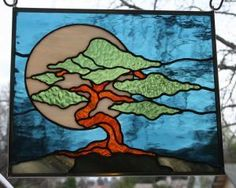 Bonsai Stained Glass Pattern | Found on glasswench.com