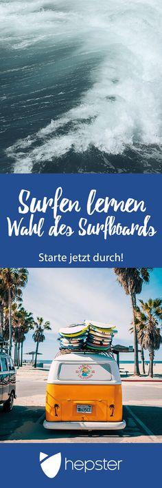 Worauf Du beim Surfen lernen jetzt achten solltest: So findest Du das richtige Surfboard für Dich! Im Beitrag gibt es viele Tipps für das passende Surfbrett für Dich und viele weitere Infos rund ums Surfenlernen.