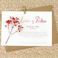 Descubre nuestra colección de Invitaciones de Boda con Flores Naturales. Encuentra diseños únicos para bodas vintage, rústicas y elegantes. ¡Entra ahora!